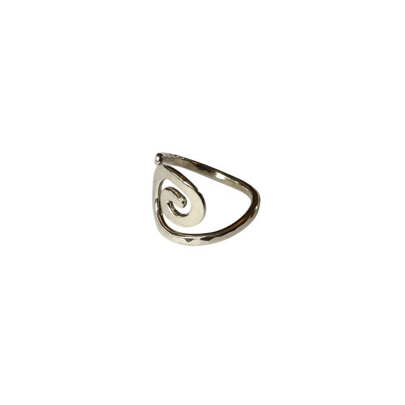 Bague argent Spirale, bijoux de créateur, vente en ligne, bijouterie