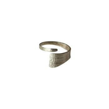 Bague argent Imprimé cuir, bijoux de créateur, vente en ligne, bijouterie