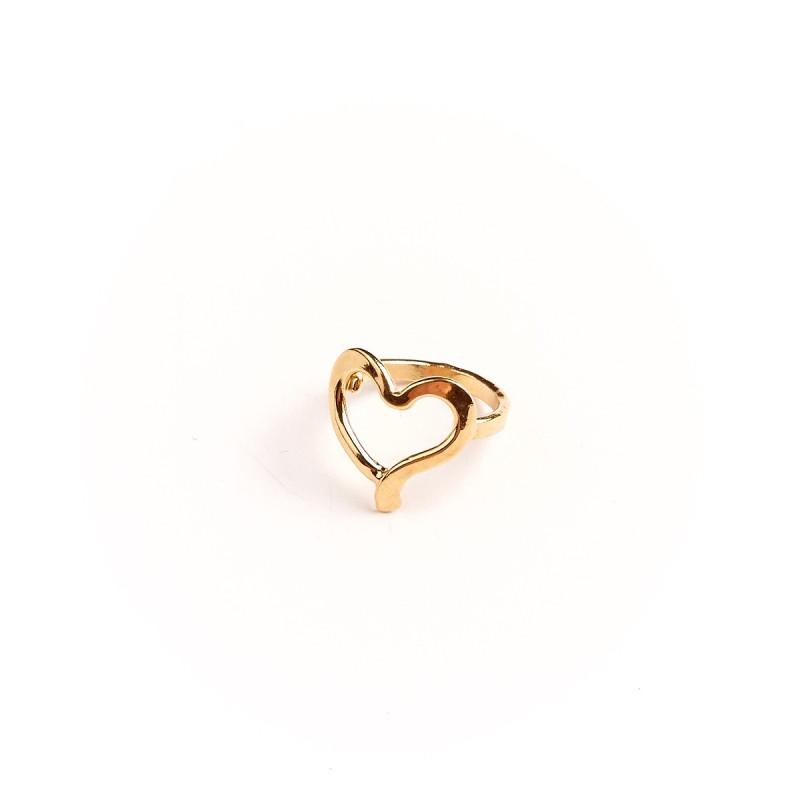Bague plaqué or Coeur, bijoux de créateur, vente en ligne, bijouterie