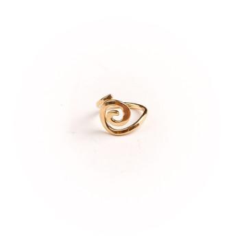 Bague plaqué or Spirale