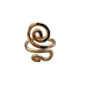 Bague plaqué or Spirale 4