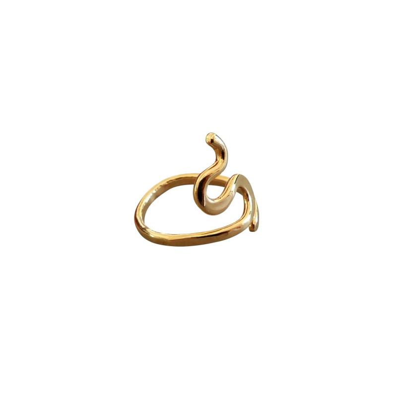Bague plaqué or Séduction, bijoux de créateur, vente en ligne, bijouterie