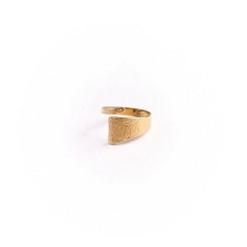 Bague plaqué or Imprimé cuir, bijoux de créateur, vente en ligne, bijouterie