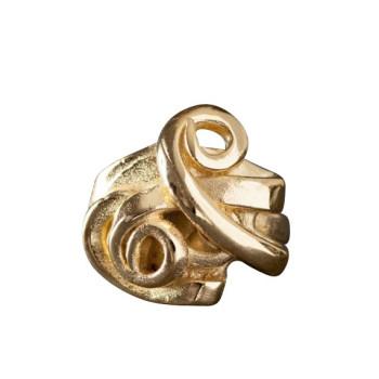 Bague plaqué or Fourchette, bijoux de créateur, vente en ligne, bijouterie