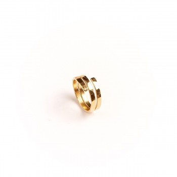 Bague plaqué or Tortillon, bijoux de créateur, vente en ligne, bijouterie
