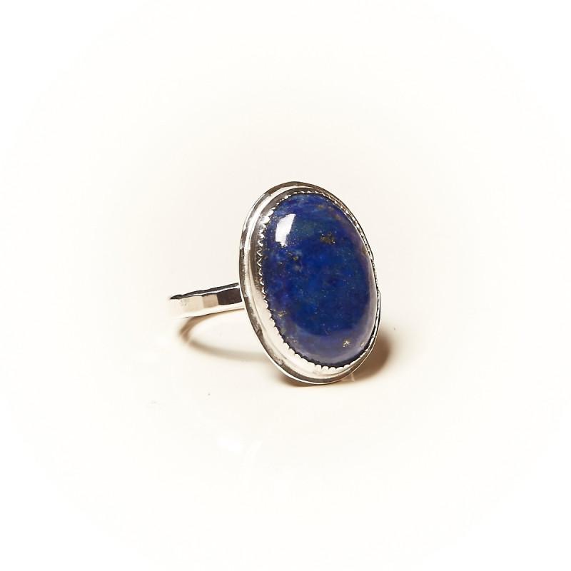 Bague argent Lapis lazuli Rosaïa, bijoux de créateur, vente en ligne, bijouterie