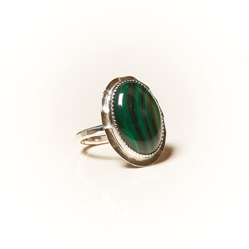 Bague argent Malachite Rosaïa, bijoux de créateur, vente en ligne, bijouterie