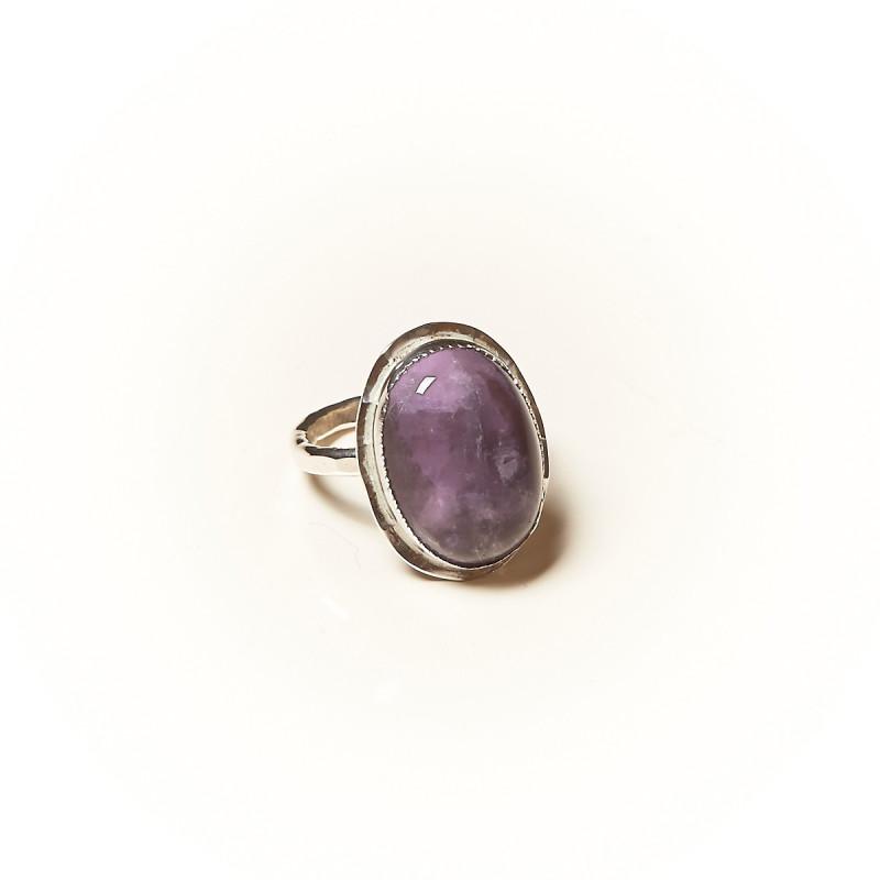 Bague argent Améthyste Rosaïa, bijoux de créateur, vente en ligne, bijouterie