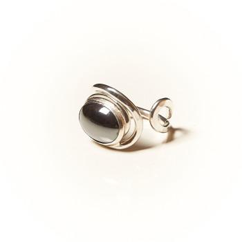 Bague argent Hématite Voluptia, bijoux de créateur, vente en ligne, bijouterie