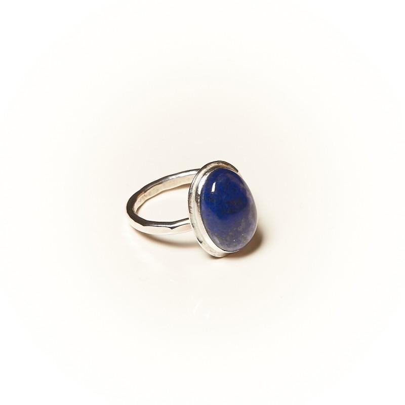 Bague argent Lapis lazuli Glaïa, bijoux de créateur, vente en ligne, bijouterie