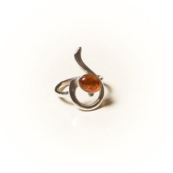 Bague argent Ambre Lizae, bijoux de créateur, vente en ligne, bijouterie