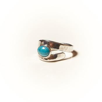Bague argent Turquoise Emulsia, bijoux de créateur, vente en ligne, bijouterie