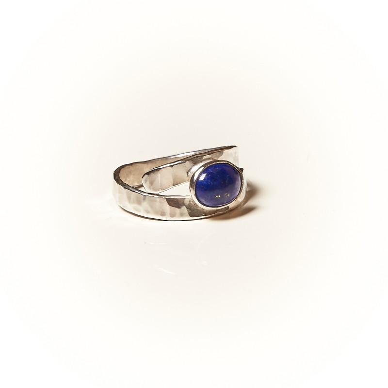 Bague argent Lapis lazuli Emulsia, bijoux de créateur, vente en ligne, bijouterie