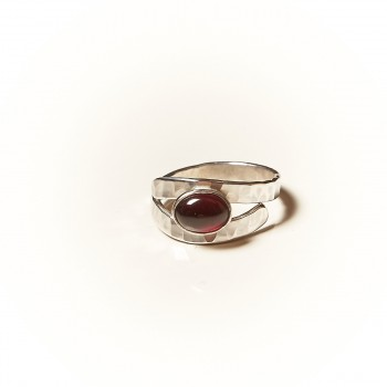 Bague argent Grenat Emulsia, bijoux de créateur, vente en ligne, bijouterie