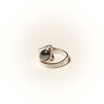 Bague argent Hématite Romae, bijoux de créateur, vente en ligne, bijouterie