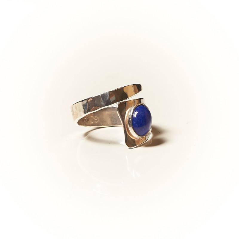 Bague argent Lapis lazuli Romae, bijoux de créateur, vente en ligne, bijouterie