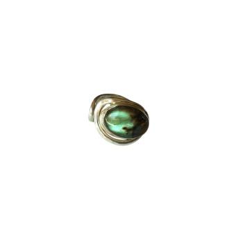 Bague argent Labradorite Voluptia, bijoux de créateur, vente en ligne, bijouterie