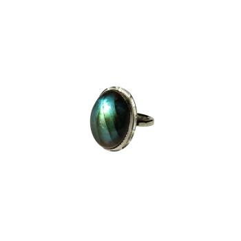 Bague argent Labradorite Rosaïa, bijoux de créateur, vente en ligne, bijouterie