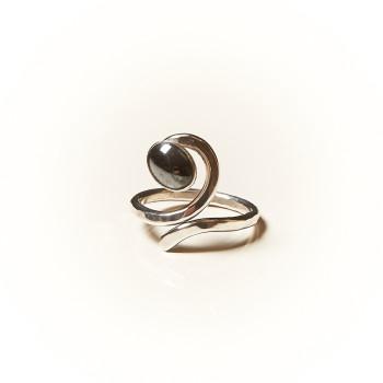 Bague argent Hématite, bijoux de créateur, vente en ligne, bijouterie