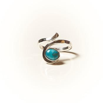 Bague argent Turquoise, bijoux de créateur, vente en ligne, bijouterie