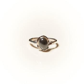 Bague argent Hématite Classica, bijoux de créateur, vente en ligne, bijouterie