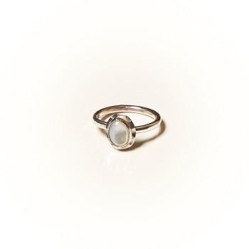 Bague argent Nacre Classica, bijoux de créateur, vente en ligne, bijouterie