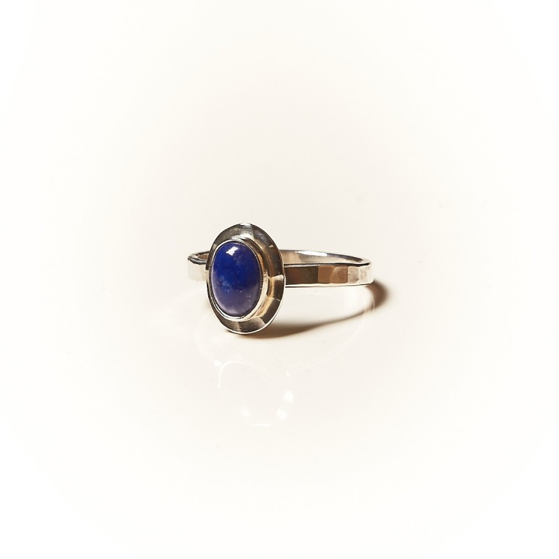 Bague argent Lapis lazuli, bijoux de créateur, vente en ligne, bijouterie