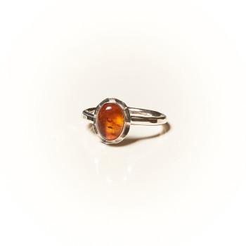 Bague argent Ambre Classica, bijoux de créateur, vente en ligne, bijouterie