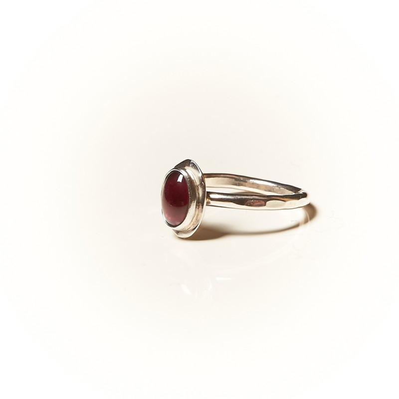 Bague argent Grenat Classica, bijoux de créateur, vente en ligne, bijouterie