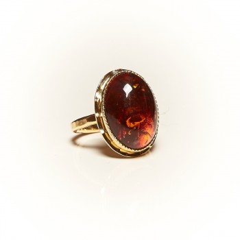Bague plaqué or Ambre Rosaïa, bijoux de créateur, vente en ligne, bijouterie