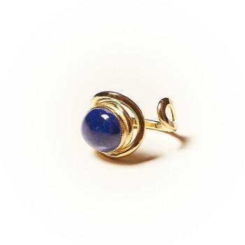 Bague plaqué or Lapis lazuli Voluptia, bijoux de créateur, vente en ligne, bijouterie