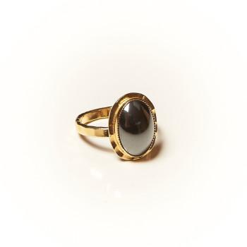 Bague plaqué or Hématite, bijoux de créateur, vente en ligne, bijouterie