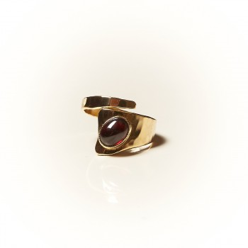 Bague plaqué or Grenat, bijoux de créateur, vente en ligne, bijouterie