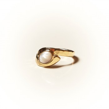 Bague plaqué or Nacre, bijoux de créateur, vente en ligne, bijouterie