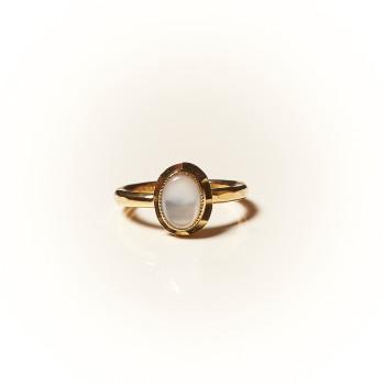 Bague plaqué or Nacre Classica, bijoux de créateur, vente en ligne, bijouterie