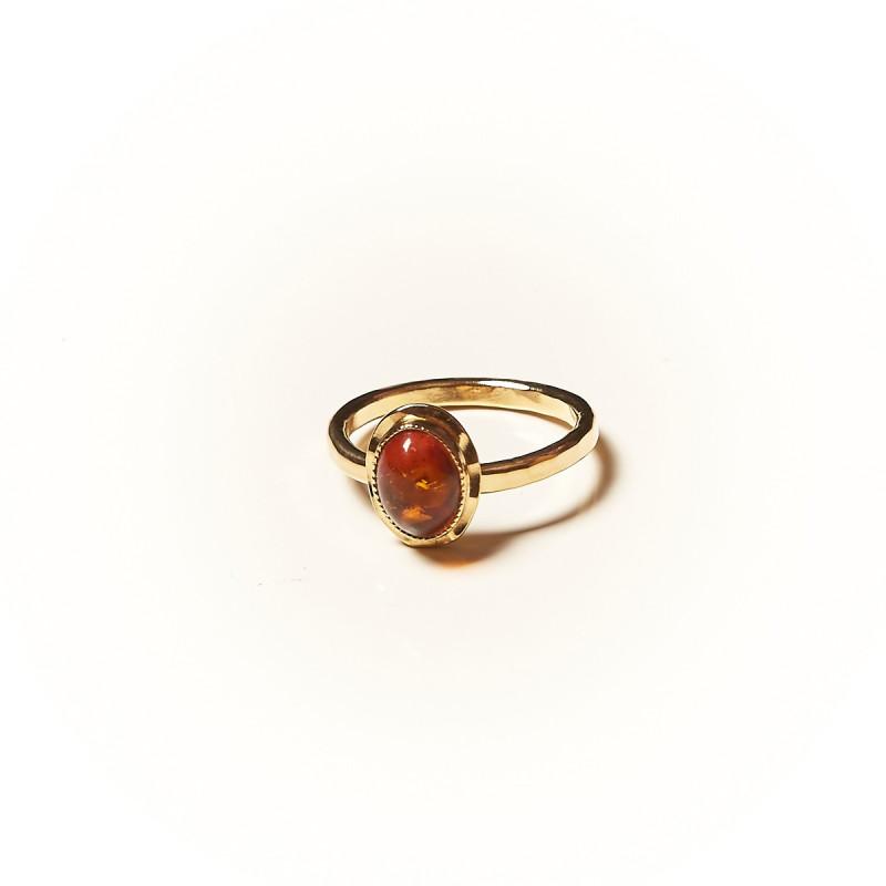 Bague plaqué or Ambre Classica, bijoux de créateur, vente en ligne, bijouterie