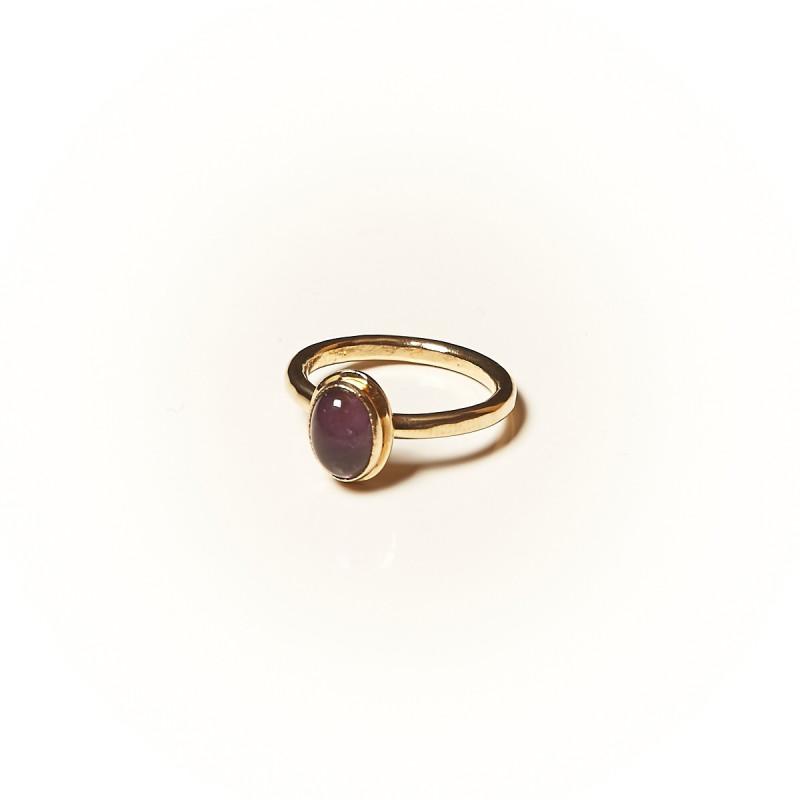 Bague plaqué or Améthyste Classica, bijoux de créateur, vente en ligne,  bijouterie