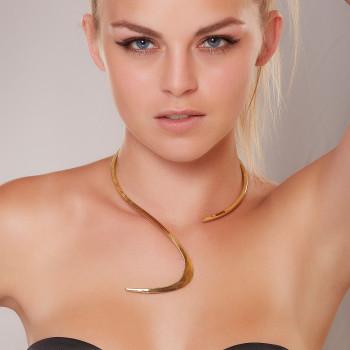 Collier plaqué or Le Vent l'Emportera, bijoux de créateur, vente en ligne, bijouterie