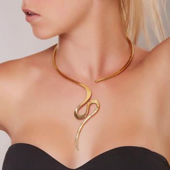 Collier plaqué or Séduction, bijoux de créateur, vente en ligne, bijouterie