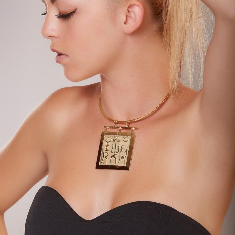 Collier plaqué or Empereur de Chine, bijoux de créateur, vente en ligne, bijouterie