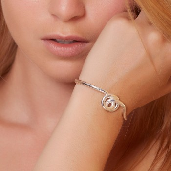 Bracelet plaqué argent Noeud, bijoux de créateur, vente en ligne, bijouterie,  bijou artisanal