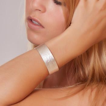 Bracelet argent Imprimé Cuir, bijoux de créateur, vente en ligne, bijouterie,  bijou artisanal