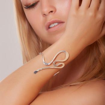 Bracelet plaqué argent Séduction, bijoux de créateur, vente en ligne, bijouterie,  bijou artisanal