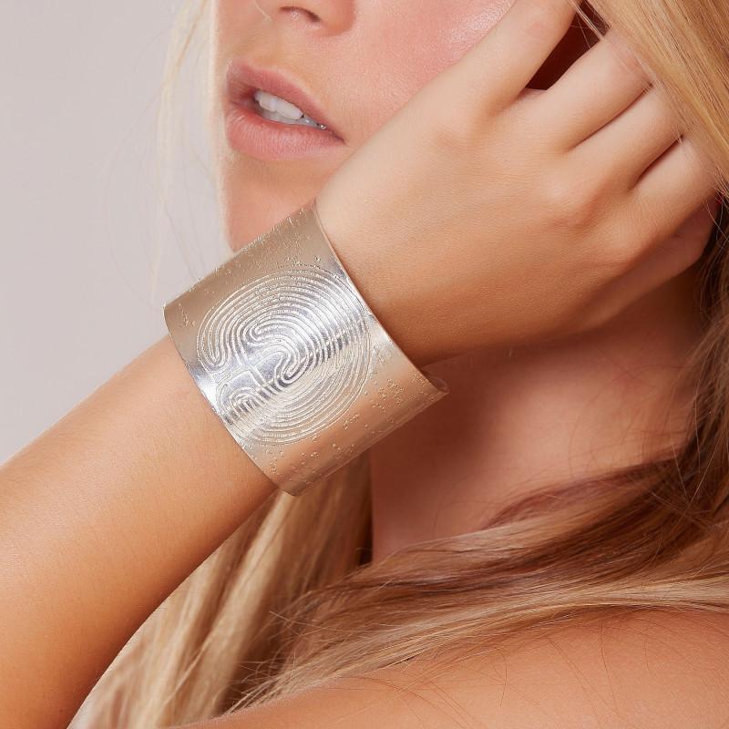 Bracelet argent Labyrinthe, bijoux de créateur, vente en ligne, bijouterie,  bijou artisanal