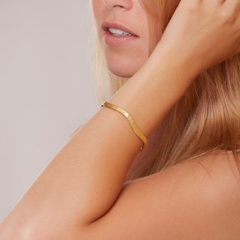 Bracelet plaqué or Frisson, bijoux de créateur, vente en ligne, bijouterie, bijou artisanal