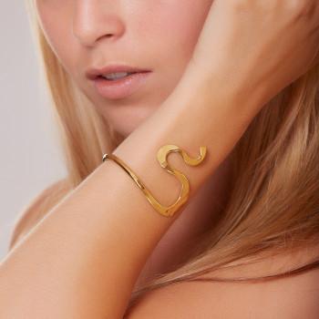 Bracelet plaqué or Séduction, bijoux de créateur, vente en ligne, bijouterie, bijou artisanal
