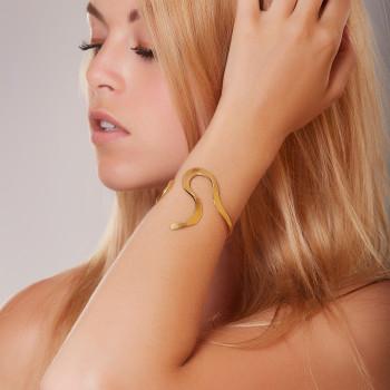 Bracelet plaqué or Plénitude, bijoux de créateur, vente en ligne, bijou artisanal, fabrication française
