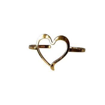 Bracelet plaqué or Coeur, bijoux de créateur, vente en ligne, bijou artisanal, fabrication française