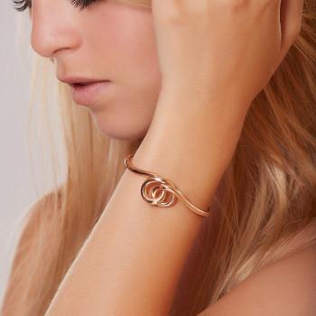 Bracelet plaqué or rose Noeud, bijoux de créateur, vente en ligne, bijou artisanal, fabrication française