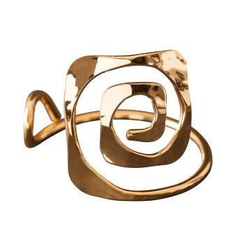 Bracelet plaqué or carré, bijoux de créateur, vente en ligne, bijou artisanal, fabrication française